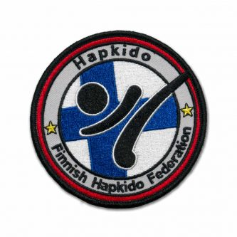 Suomen Hapkidoliitto (SHL) -rintamerkki